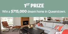 Lottery No. 100 : 1st Prize. Jennian dream home in Queenstown