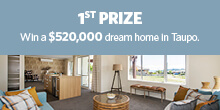 Lottery No. 101 : 1st Prize. Fully furnished Jennian dream home in Taupo.
